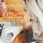 Helping, Not Doing Your Child's Homework