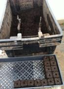 Soil blocking station