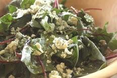 Freshly Harvested Spinach Salad