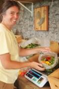 Heidi and salad mix