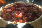 raspberry rhubarb pie to be
