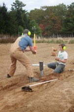 michael swinging the sledge hammer