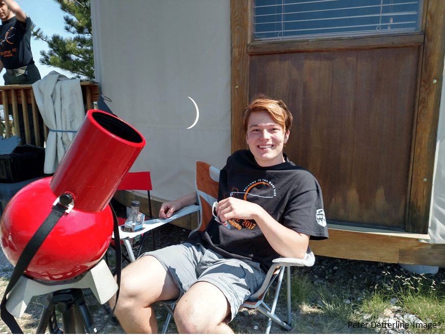 Michael waiting for Totality