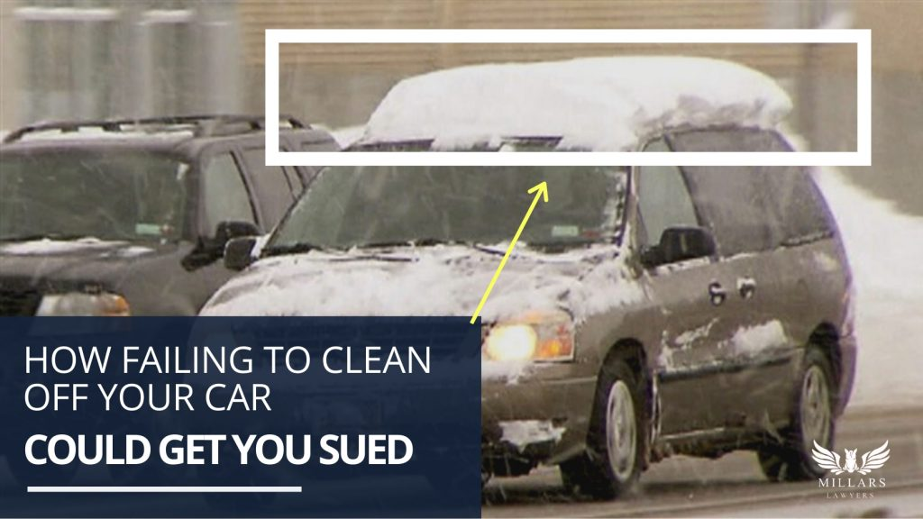 How Failing to Clean Off Your Car Could Get You Sued