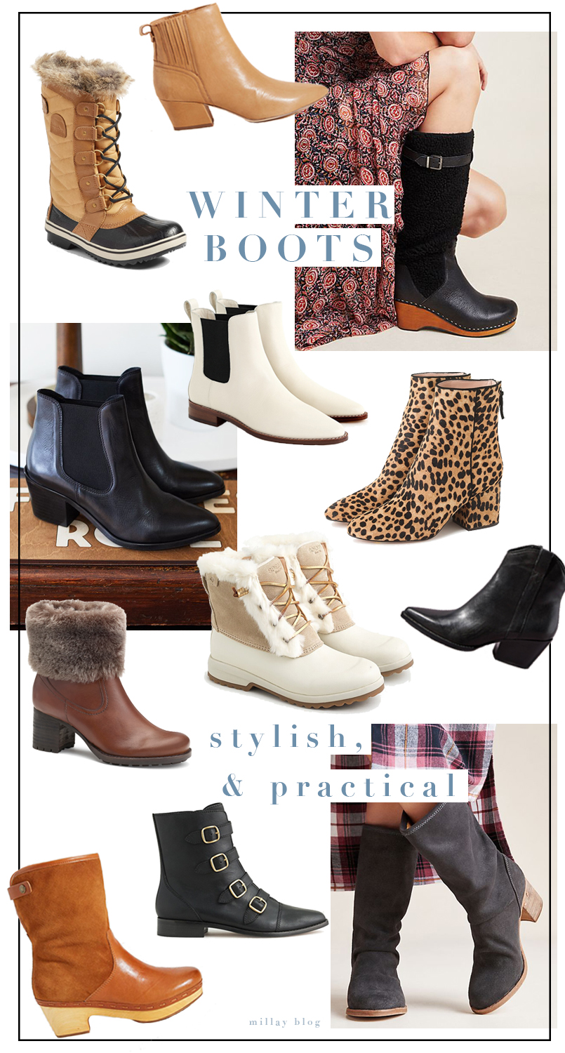 Winter Boots Round up on Millay Blog