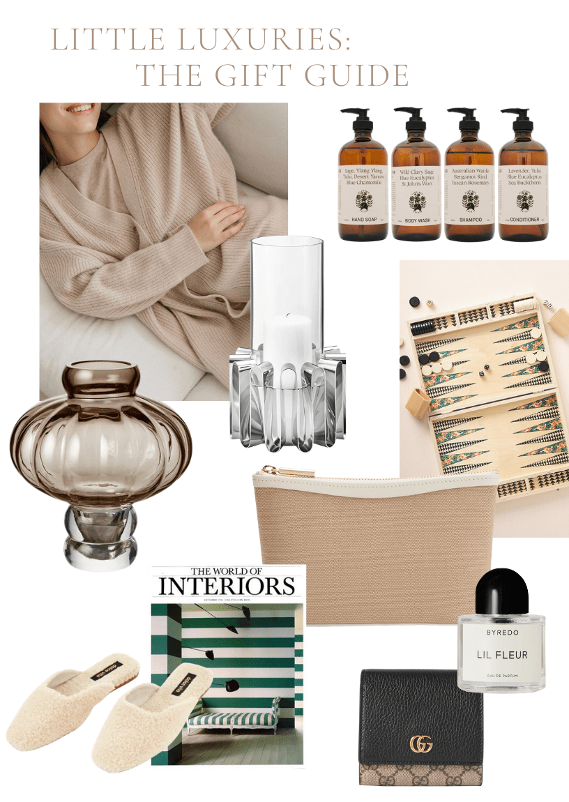 Little Luxuries Gift Guide Collage from Millay Studio