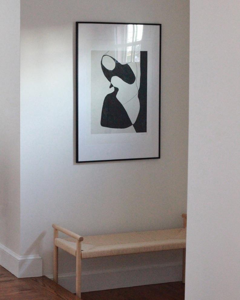 Simple Modern Art in Entryway- Millay Studio