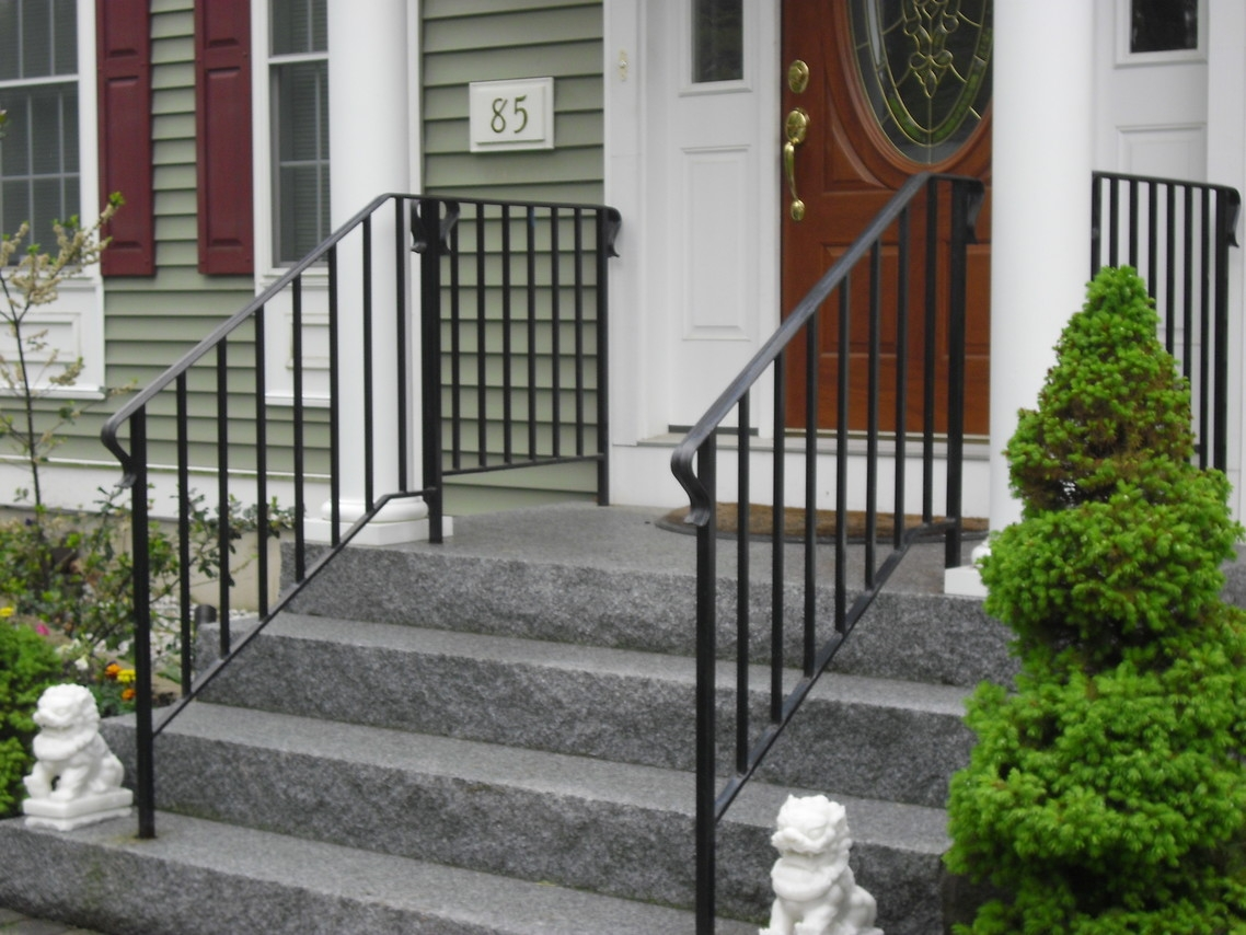 Custom Iron Railings Wrought Iron Railings Mill City Iron | Handrails For Front Steps | Small House | Granite | Easy | Cast Iron | Wrought Iron