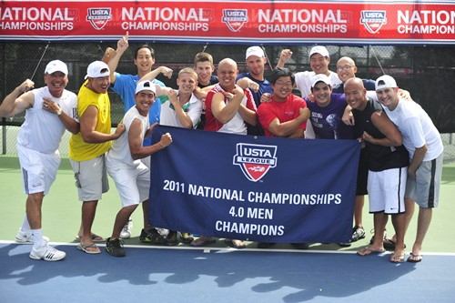 During the 2011 USTA League 4.0 Adult National Championships held at the Reffkin Tennis Center, in Tucson, AZ.