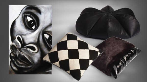 Black and white decor accessories