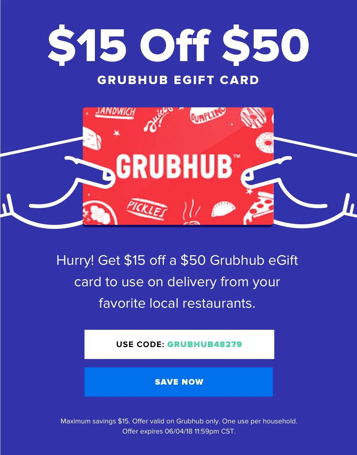 Raise 15 Off Grubhub Starts Now Milled