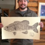 Adam Cook with Fish Print