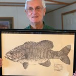 Larry Dahler with Fish Print