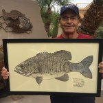 Robert Jolley with Fish Print