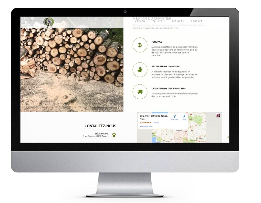 Site Web Services O2 l'Arbre