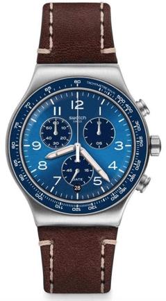 Swatch Casual Blue Chronograph Quartz Reloj para hombre con esfera azul YVS466