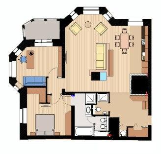 Дизайн интерьера. План квартиры