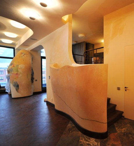 Дизайн интерьера квартиры в стиле Гауди. Часть гостиной