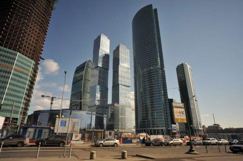 Здания делового центра в Москве-Сити