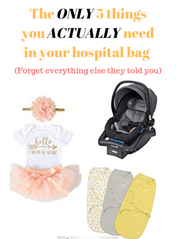 The ONLY 5 things you actually need on your hospital bag checklist (for baby)