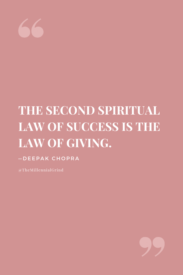 The Law of Giving Quote; The Seven Spiritual Laws of Success Quotes