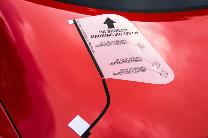 Play around with the Genesis Coupe's rear spoiler OEM template until you're sure you are putting it together right.