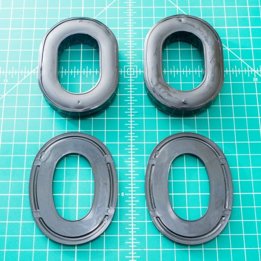 Here I've applied the 3M adhesive promoter to both the rings and the gel pads.