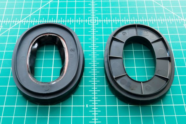 The 3M Peltor Camelback Gel Sealing Rings are on the left, the Original Foam Pads on the right. While the 3M gel pads are not advertised as a direct replacement, in my case it fit. Depending on the tolerances of your hearing protector, that may or may not be the case for you.