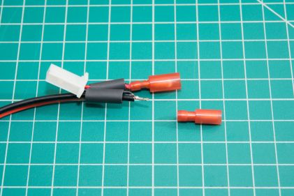 If you can, add some heatshrink before crimping on the connectors. Bonus points if it's marine heatshrink with a thermal adhesive lining.