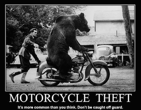 Motorcycle Theft - It's more common than you think. Don't be caught off guard.