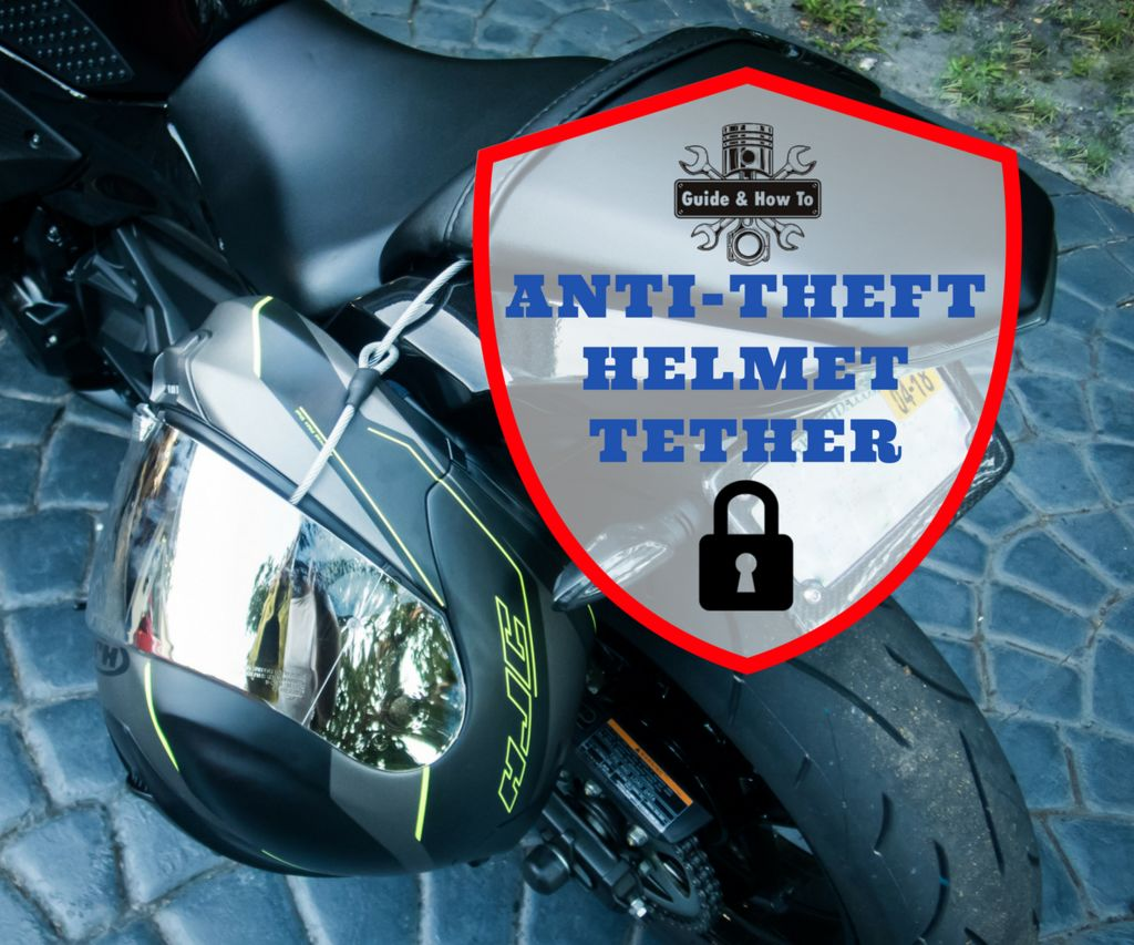 Motorcycle Helmet Lock: Anti-Theft Tether Cable