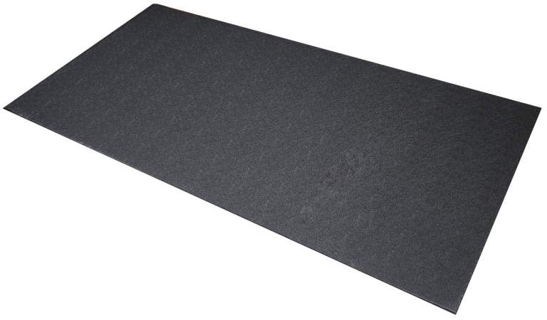 If you intend to exercise on a routine basis - which you should - an equipment mat is the standard way to protect both the floor and your machine.