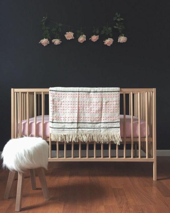 The sniglar crib from ikea and Aubrey Kinch