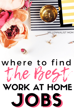 Moms! This is nuts! Flexible, legitimate, remote work is REAL. Stop wondering where to find a job a home, this list gives you the BEST places to find work at home jobs in 2018. where people find real work without scams #workathome #workfromhomemom #workingmom #maternityleave