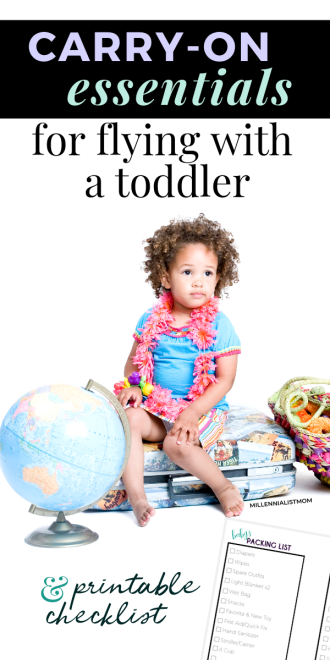 how to travel with a toddler and what to pack when you fly solo with a lap infant!
