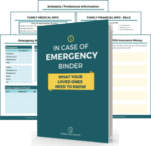 Family emergency Planning. Family financial planning. In case of an emergency planning.