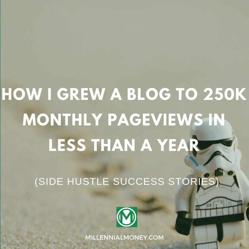 zero to 250k monthly pageviews