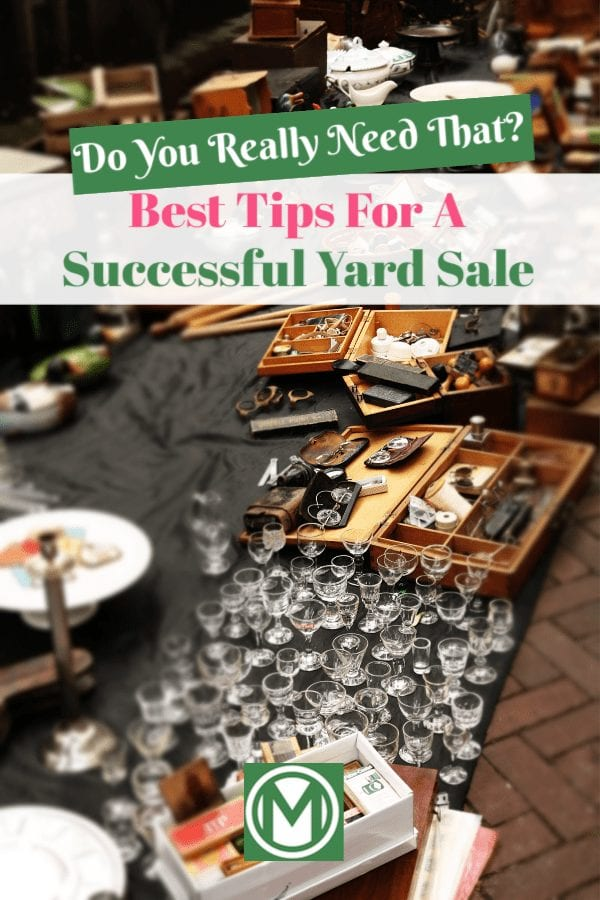 Seriously, when is the last time you wore that? If you are planning a yard sale, check out these important tips to ensure that your garage sale is successful!