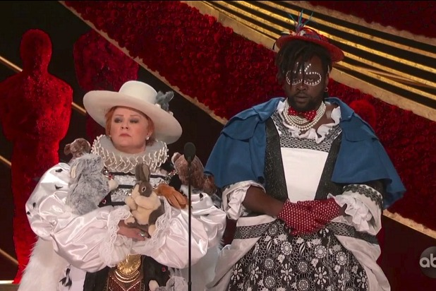 Melissa McCarthy and Bryan Tyree Henry at the 2019 Oscars