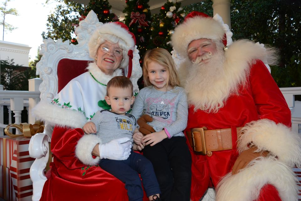 With Santa and Mrs. Claus