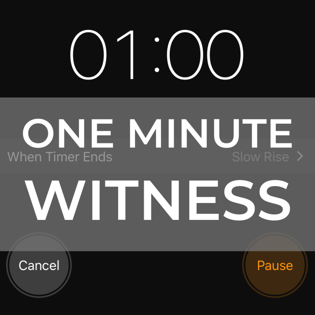 One Minute Witness | Millennials with Meaning