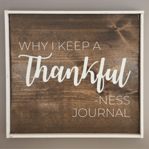 Why I Keep a Thankfulness / Gratitude Journal | Millennials with Meaning