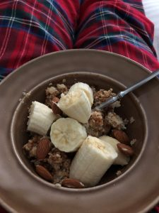 Oatmeal with almond butter, banana and almonds - A Sample Daniel Fast Meal Plan | Millennials with Meaning