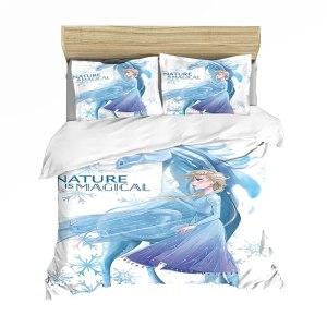 Set sacco copripiumino + federa Frozen (100% poliestere)