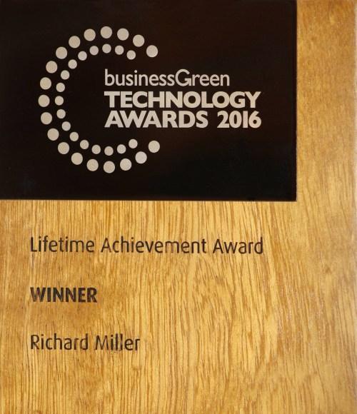 businessGreen Technology Awards 2016; lifetime achievement award