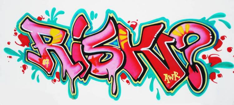 Graffiti on wall - RISK