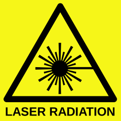Laser Radiation Warning Sign