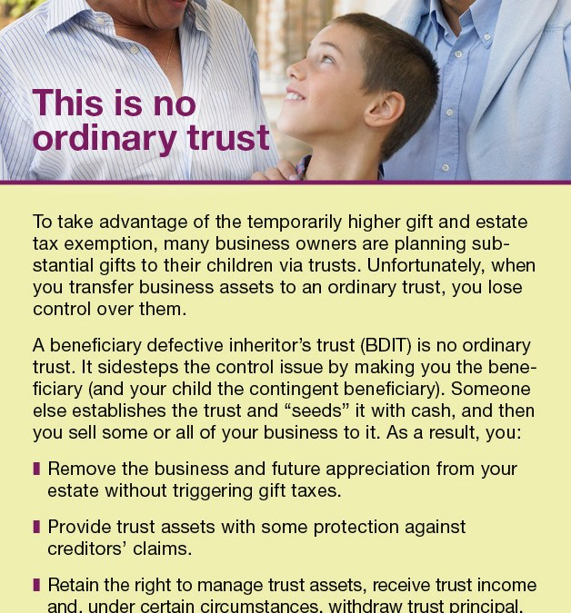 This Is No Ordinary Trust