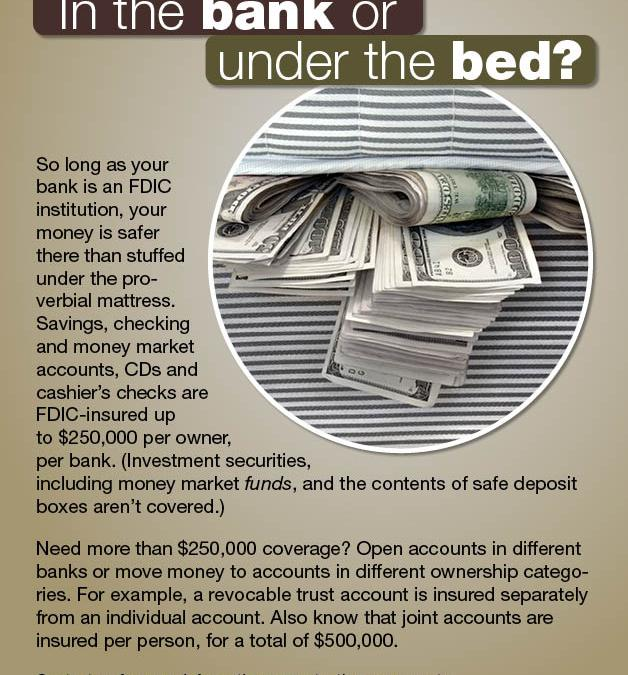 In the Bank or Under the Bed?