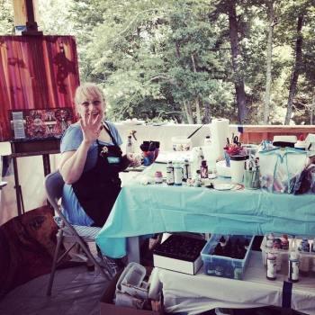Susan Miller, of http://LightedPathCoaching.org facilitates the retreat